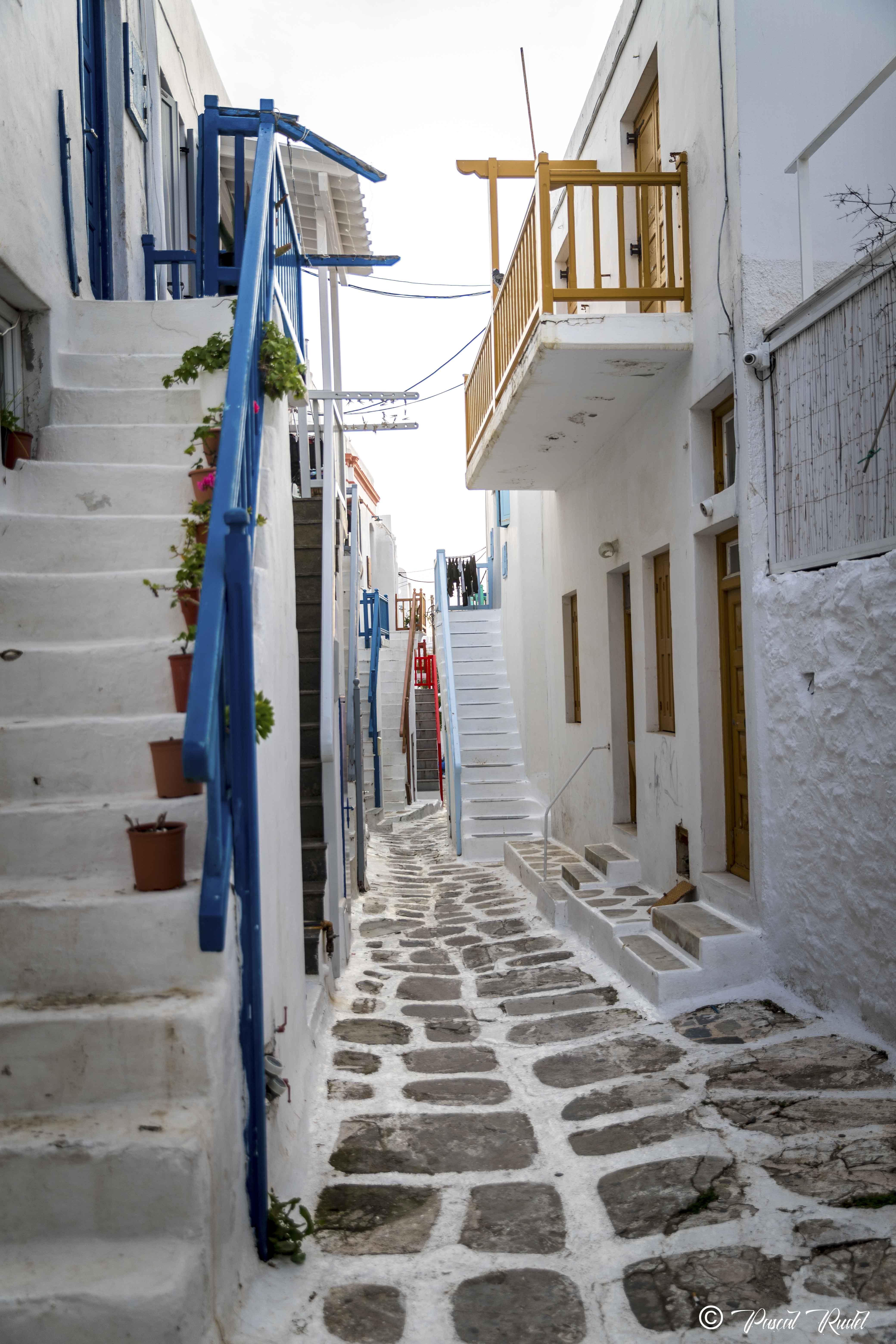 Les rues de Mykonos
